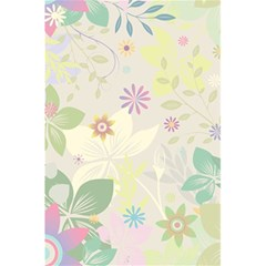 Flower Rainbow Star Floral Sexy Purple Green Yellow White Rose 5 5  X 8 5  Notebooks by Mariart