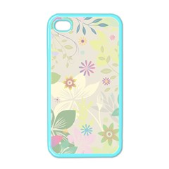 Flower Rainbow Star Floral Sexy Purple Green Yellow White Rose Apple Iphone 4 Case (color) by Mariart
