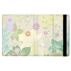 Flower Rainbow Star Floral Sexy Purple Green Yellow White Rose Apple Ipad 3/4 Flip Case by Mariart