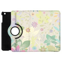 Flower Rainbow Star Floral Sexy Purple Green Yellow White Rose Apple Ipad Mini Flip 360 Case by Mariart