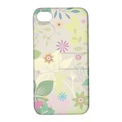 Flower Rainbow Star Floral Sexy Purple Green Yellow White Rose Apple Iphone 4/4s Hardshell Case With Stand by Mariart