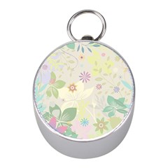 Flower Rainbow Star Floral Sexy Purple Green Yellow White Rose Mini Silver Compasses by Mariart