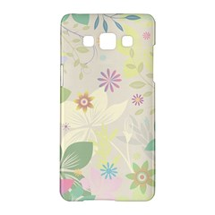 Flower Rainbow Star Floral Sexy Purple Green Yellow White Rose Samsung Galaxy A5 Hardshell Case  by Mariart