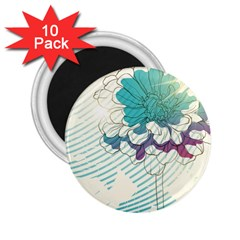 Flower Rose Purple Sunflower Lotus 2 25  Magnets (10 Pack)  by Mariart