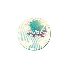 Flower Rose Purple Sunflower Lotus Golf Ball Marker (10 Pack) by Mariart