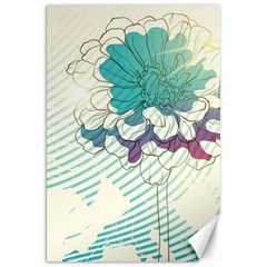 Flower Rose Purple Sunflower Lotus Canvas 20  X 30   by Mariart