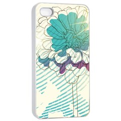Flower Rose Purple Sunflower Lotus Apple Iphone 4/4s Seamless Case (white) by Mariart