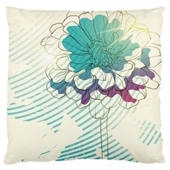 Flower Rose Purple Sunflower Lotus Large Cushion Case (one Side) by Mariart
