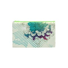 Flower Rose Purple Sunflower Lotus Cosmetic Bag (xs) by Mariart