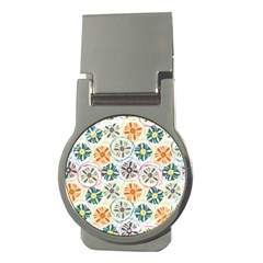Flower Rainbow Fan Sunflower Circle Sexy Money Clips (round)  by Mariart