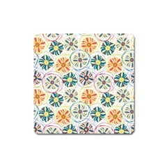 Flower Rainbow Fan Sunflower Circle Sexy Square Magnet by Mariart