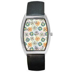 Flower Rainbow Fan Sunflower Circle Sexy Barrel Style Metal Watch by Mariart