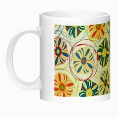 Flower Rainbow Fan Sunflower Circle Sexy Night Luminous Mugs by Mariart