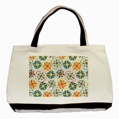 Flower Rainbow Fan Sunflower Circle Sexy Basic Tote Bag by Mariart