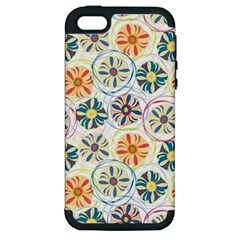 Flower Rainbow Fan Sunflower Circle Sexy Apple Iphone 5 Hardshell Case (pc+silicone) by Mariart