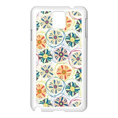 Flower Rainbow Fan Sunflower Circle Sexy Samsung Galaxy Note 3 N9005 Case (white)