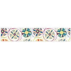 Flower Rainbow Fan Sunflower Circle Sexy Flano Scarf (large) by Mariart