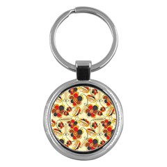 Flower Seed Rainbow Rose Key Chains (round)  by Mariart