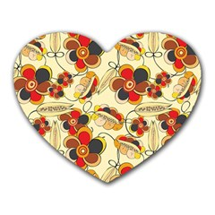 Flower Seed Rainbow Rose Heart Mousepads by Mariart