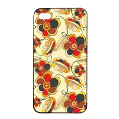 Flower Seed Rainbow Rose Apple Iphone 4/4s Seamless Case (black) by Mariart