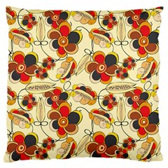 Flower Seed Rainbow Rose Large Flano Cushion Case (one Side) by Mariart