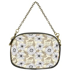 Flower Rose Sunflower Gray Star Chain Purses (one Side)  by Mariart