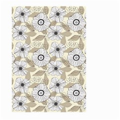 Flower Rose Sunflower Gray Star Large Garden Flag (two Sides) by Mariart