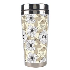 Flower Rose Sunflower Gray Star Stainless Steel Travel Tumblers by Mariart