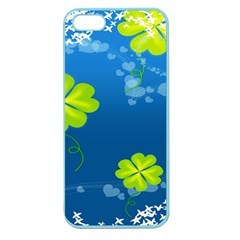 Flower Shamrock Green Blue Sexy Apple Seamless Iphone 5 Case (color) by Mariart