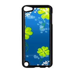 Flower Shamrock Green Blue Sexy Apple Ipod Touch 5 Case (black) by Mariart