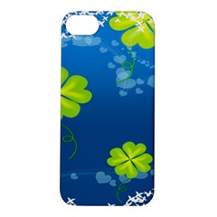 Flower Shamrock Green Blue Sexy Apple Iphone 5s/ Se Hardshell Case