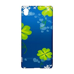 Flower Shamrock Green Blue Sexy Sony Xperia Z3+ by Mariart