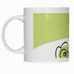 Flower Simple Green Rose Sunflower Sexy White Mugs by Mariart