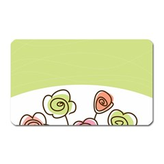 Flower Simple Green Rose Sunflower Sexy Magnet (rectangular) by Mariart