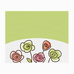 Flower Simple Green Rose Sunflower Sexy Small Glasses Cloth by Mariart