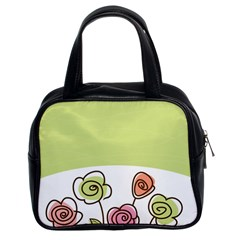 Flower Simple Green Rose Sunflower Sexy Classic Handbags (2 Sides) by Mariart