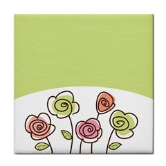 Flower Simple Green Rose Sunflower Sexy Face Towel by Mariart