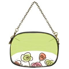 Flower Simple Green Rose Sunflower Sexy Chain Purses (one Side)  by Mariart