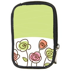 Flower Simple Green Rose Sunflower Sexy Compact Camera Cases by Mariart