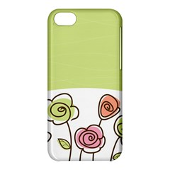 Flower Simple Green Rose Sunflower Sexy Apple Iphone 5c Hardshell Case by Mariart