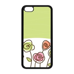 Flower Simple Green Rose Sunflower Sexy Apple Iphone 5c Seamless Case (black) by Mariart