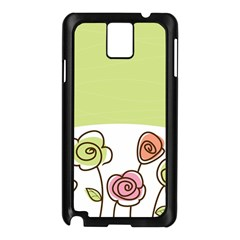 Flower Simple Green Rose Sunflower Sexy Samsung Galaxy Note 3 N9005 Case (black) by Mariart