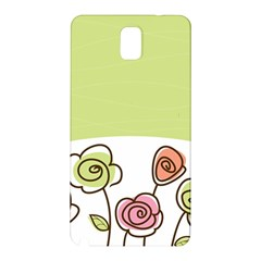 Flower Simple Green Rose Sunflower Sexy Samsung Galaxy Note 3 N9005 Hardshell Back Case by Mariart