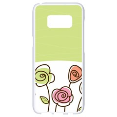 Flower Simple Green Rose Sunflower Sexy Samsung Galaxy S8 White Seamless Case by Mariart