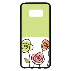 Flower Simple Green Rose Sunflower Sexy Samsung Galaxy S8 Plus Black Seamless Case by Mariart