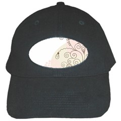 Flower Simple Pink Black Cap by Mariart