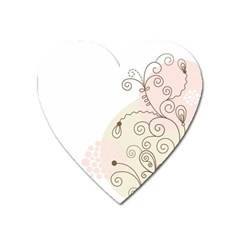 Flower Simple Pink Heart Magnet by Mariart
