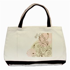Flower Simple Pink Basic Tote Bag by Mariart