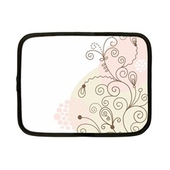 Flower Simple Pink Netbook Case (small)  by Mariart