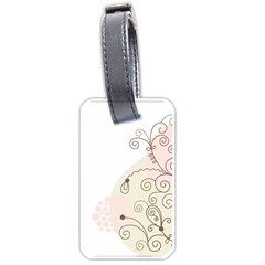 Flower Simple Pink Luggage Tags (one Side)  by Mariart